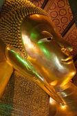 Testa di buddha sdraiato - wat pho, thailandia — Foto Stock
