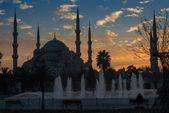 ブルー モスク - 夜景 — ストック写真