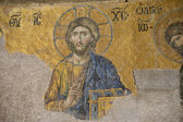 Jesus Christ - ancient mosaic — Stock Photo