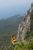 Cable car in Crimea — Stockfoto