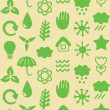 Seamless pattern with eco icons - Stockvektor