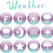 Royalty-Free Stock Vector Image: Weather icons set