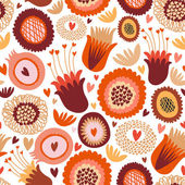 Colorful seamless floral pattern — Stock Vector