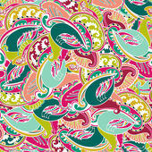 Colourful seamless Indian paisley pattern — Stock Vector