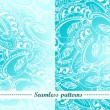 Set of 2 abstract seamless patterns - Stock Vector