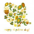 Stock Vector: Cute colorful St.Patrick's day background