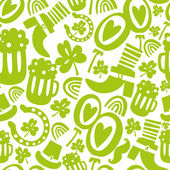 Seamless St.Patrick's day pattern — Vector de stock