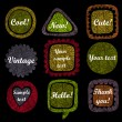 Royalty-Free Stock Vector Image: Set of 9 grunge speech bubbles and frames