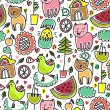 Cute colorful seamless childish pattern — Stock Vector #21838309