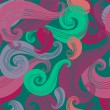 Seamless wave hand-drawn pattern - Stock Vector