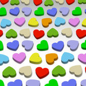 3D hearts — Vector de stock