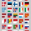 Flags of European States - Stock Vector