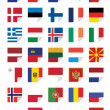 Flags of European States — Stock Vector