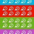 Labels with numbers — Stock Vector