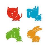 Four pets — Stock Vector