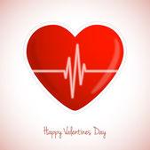 Heart with cardiogram — Stock Vector
