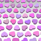 3D hearts — Stock Vector
