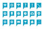 Etiketten met symbolen — Stockvector