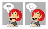 Woman on the phone — Stock Vector