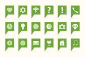 Labels with symbols — Stock Vector