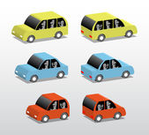 Three cars — Vector de stock