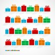 Stock Vector: Christmas gifts