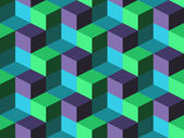 Seamless background with cubes — Stok Vektör
