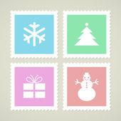 Símbolos de natal — Vetor de Stock
