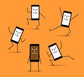Discharged phone — Stock Vector