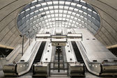 Canary Wharf tube station — Stock Photo