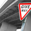 Stock Photo: Road sign Give Way