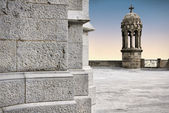 Bell tower of Tibidabo church, Barcelona — Stock Photo