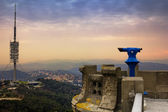 Top view from Tibidabo Mountain, Barcelona — Stock Photo