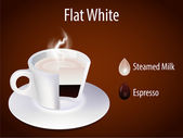 Coffee cup. Flat White — Vector de stock
