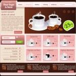 Web site design template, coffee house theme — Stock Vector #19380575