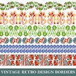Vintage border set for design — Stock Vector