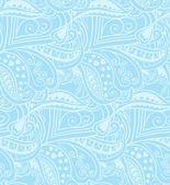 Valentine seamless hearts pattern. Blue — Stock Vector