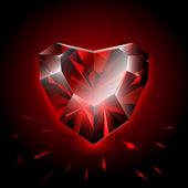 Diamond heart shape — Stock Vector