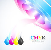 Color of cmyk flow — Stock Vector
