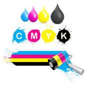 CMYK coloring set — Stock Vector