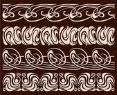 Set of borders. Calligraphic design elements. — Stock Vector
