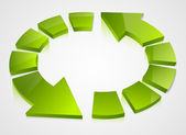 Green recycling icons — Vecteur