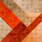 Motivo astratto arancia geometrico — Vettoriale Stock