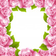 Royalty-Free Stock Vector Image: Frame made of pink roses with text frame