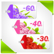 Spring Sale Tags — Stock Vector