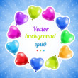 Royalty-Free Stock Vector Image: Holiday background with colorful balloons.