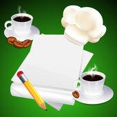 Coffee menu design — Stock Vector