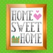 Home Sweet Home Sign — Imagen vectorial