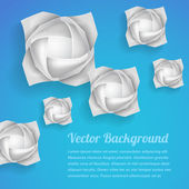 Paper rose flowers background — Stock Vector