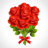 Bouquet of red rose — Stock Vector
